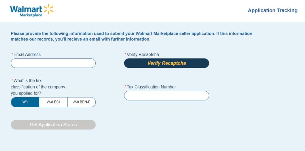 walmart seller application status